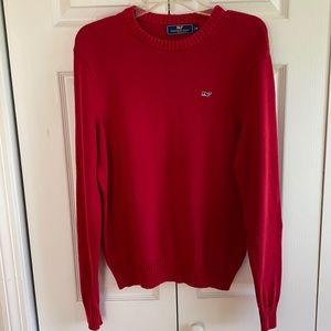 Vineyard Vines Red Cotton Crewneck Sweater Size XS